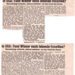 1970 Wiener Kurier, Lebende Fossilien