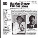 1980 Hörzu, Aus Dem Urmeer Kam Das Leben