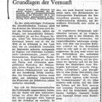 1980 Die Presse, Grundlagen Der Vernunft