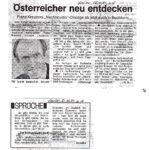 1981 Kurier,  Österreicher Neu Entdecken