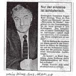 1981 Kleine Zeitung Graz, Schoepferisch